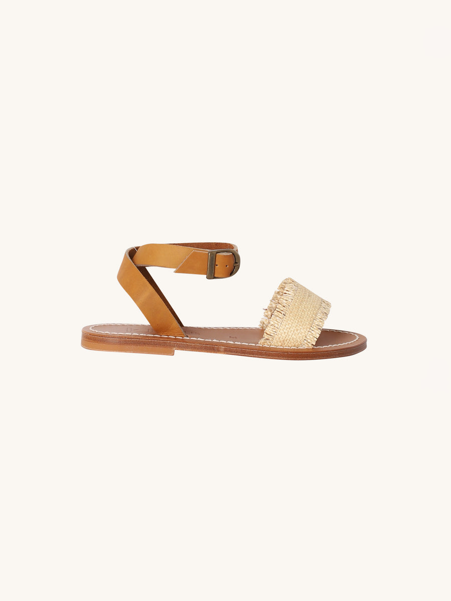 Raffia Assouan Sandal in Naturel