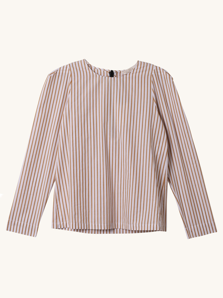 Postal Top in Stripe