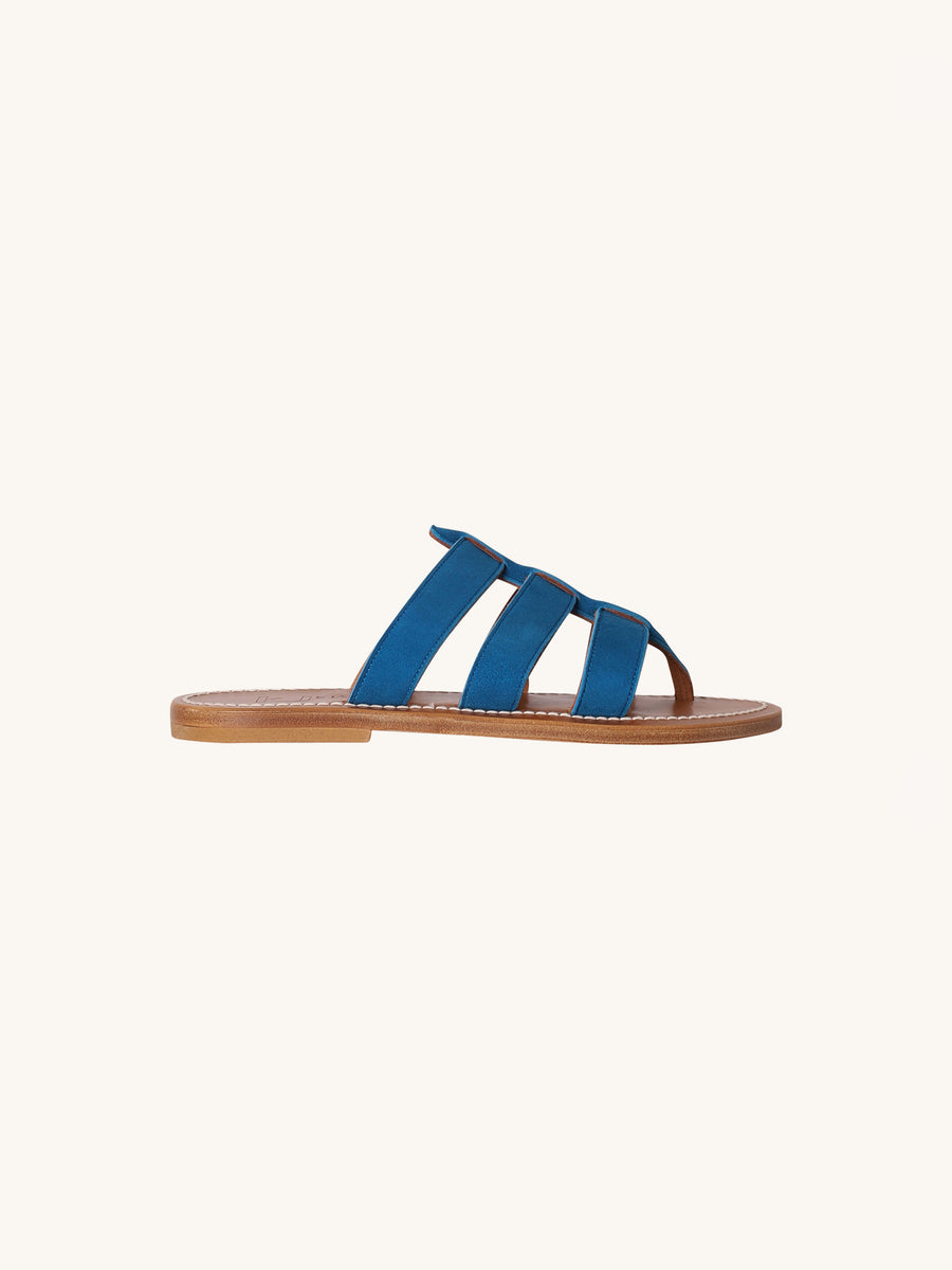 Dolon Sandal in Vel Blue