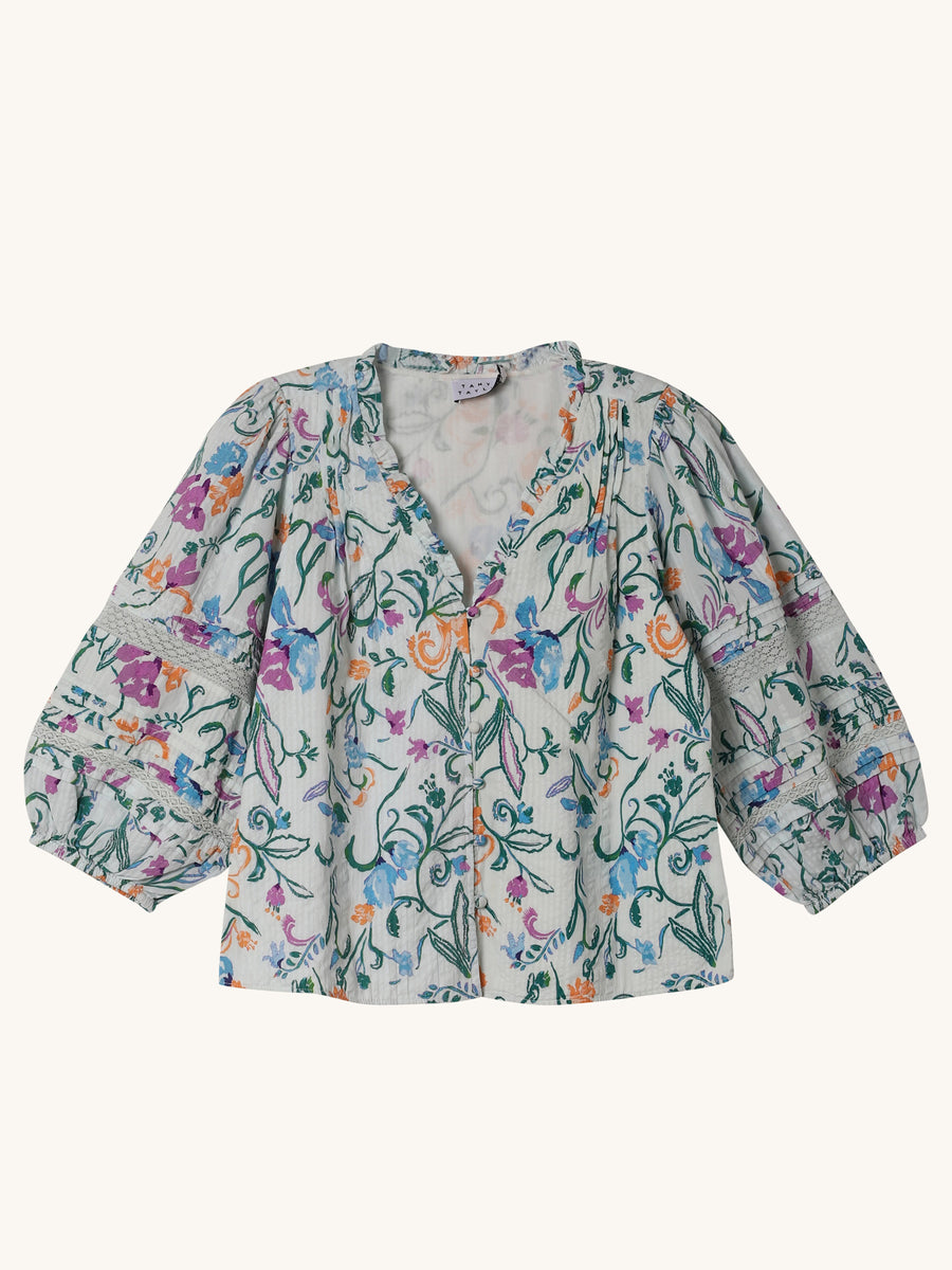 Scrolly Floral Goa Top