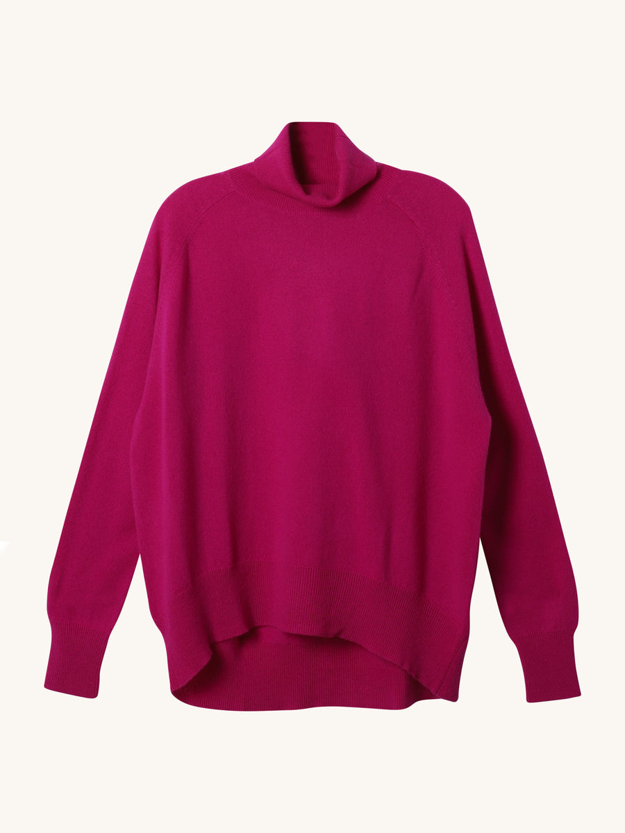 Amethyst Oversize Saddle Roll Sweater