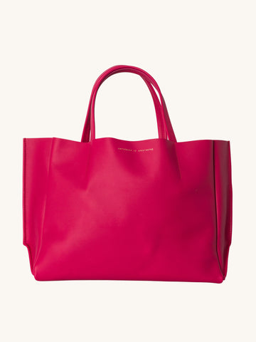 Sideways Tote in Bright Rose