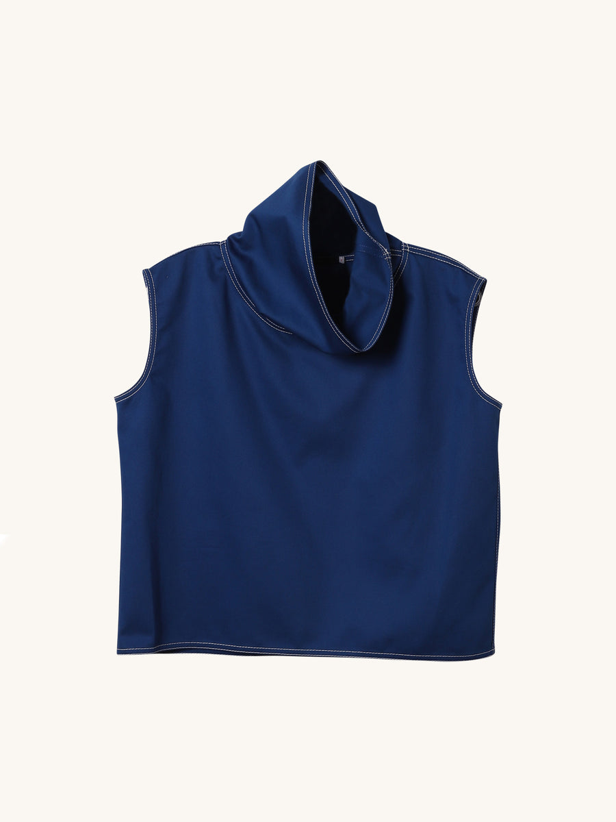 Cropped Sleeveless Turtleneck