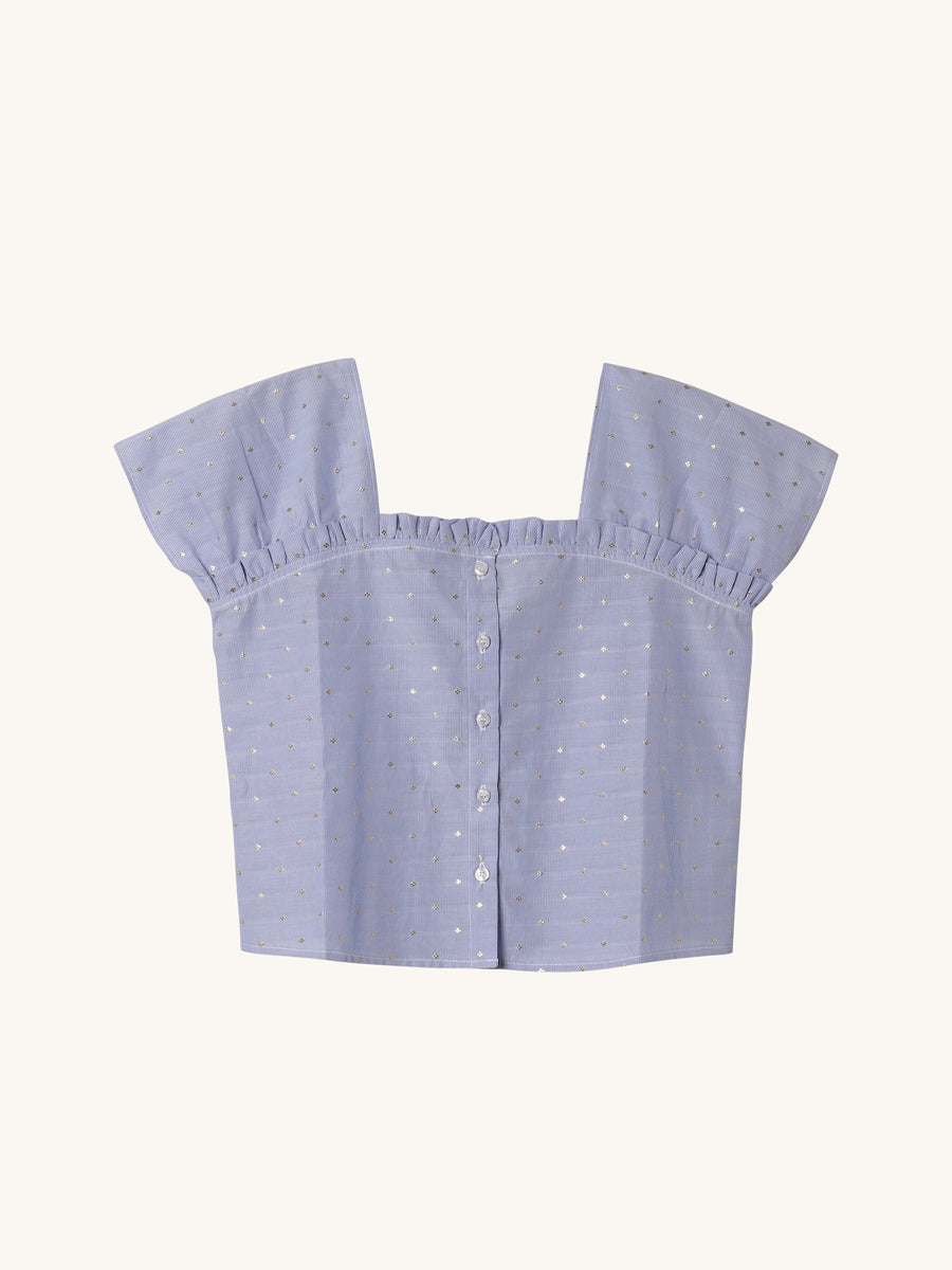 Emily Top in Sky Summer Stripe