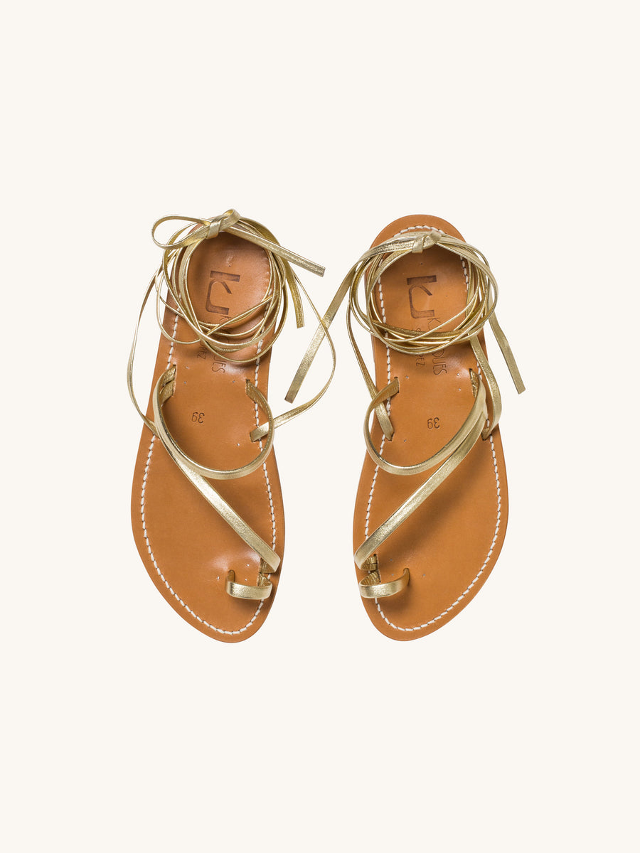 Ellada Sandal in Metallic Gold