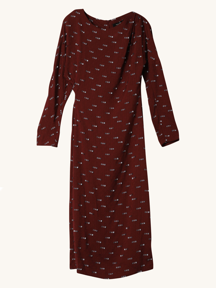 New Haven Dress in Burgundy