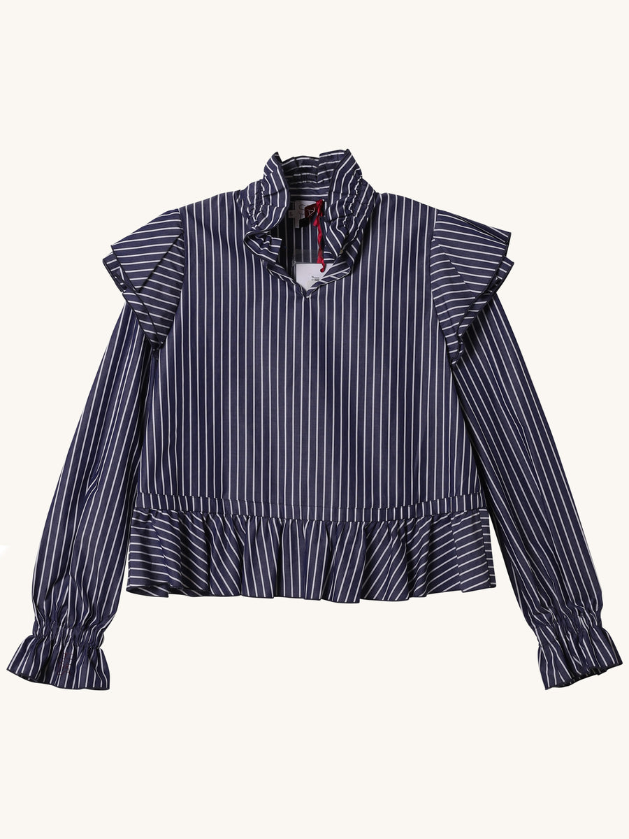 Blue & White Stripe Blouse