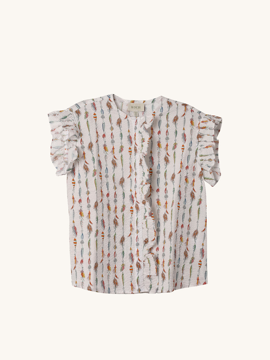 Palm Top in Fish Line Print