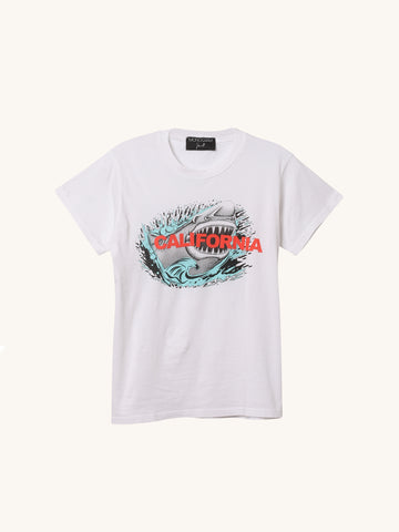 Shark Tee in White