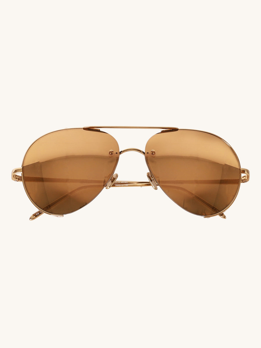 625 C1 Aviator Sunglasses in Yellow Gold