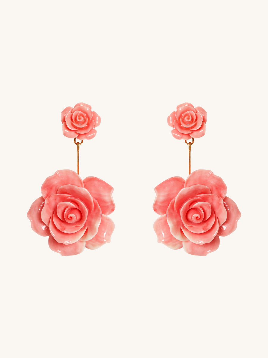 Coral Johanna Rose Earrings