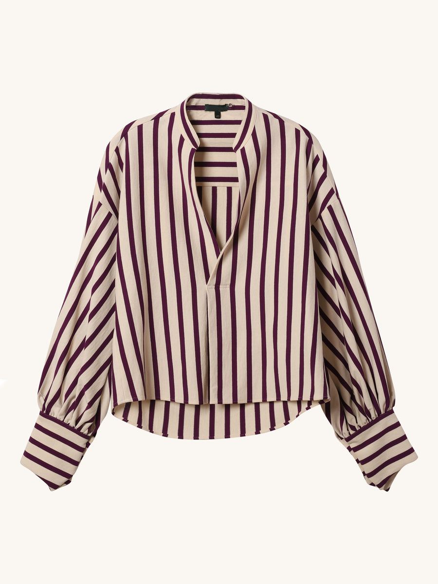Purple Stripe Donna Top