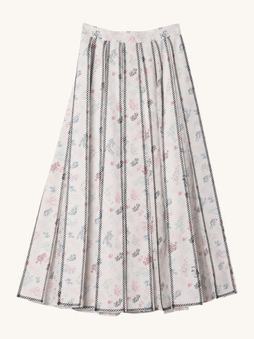 Willa Embroidered Midi Skirt