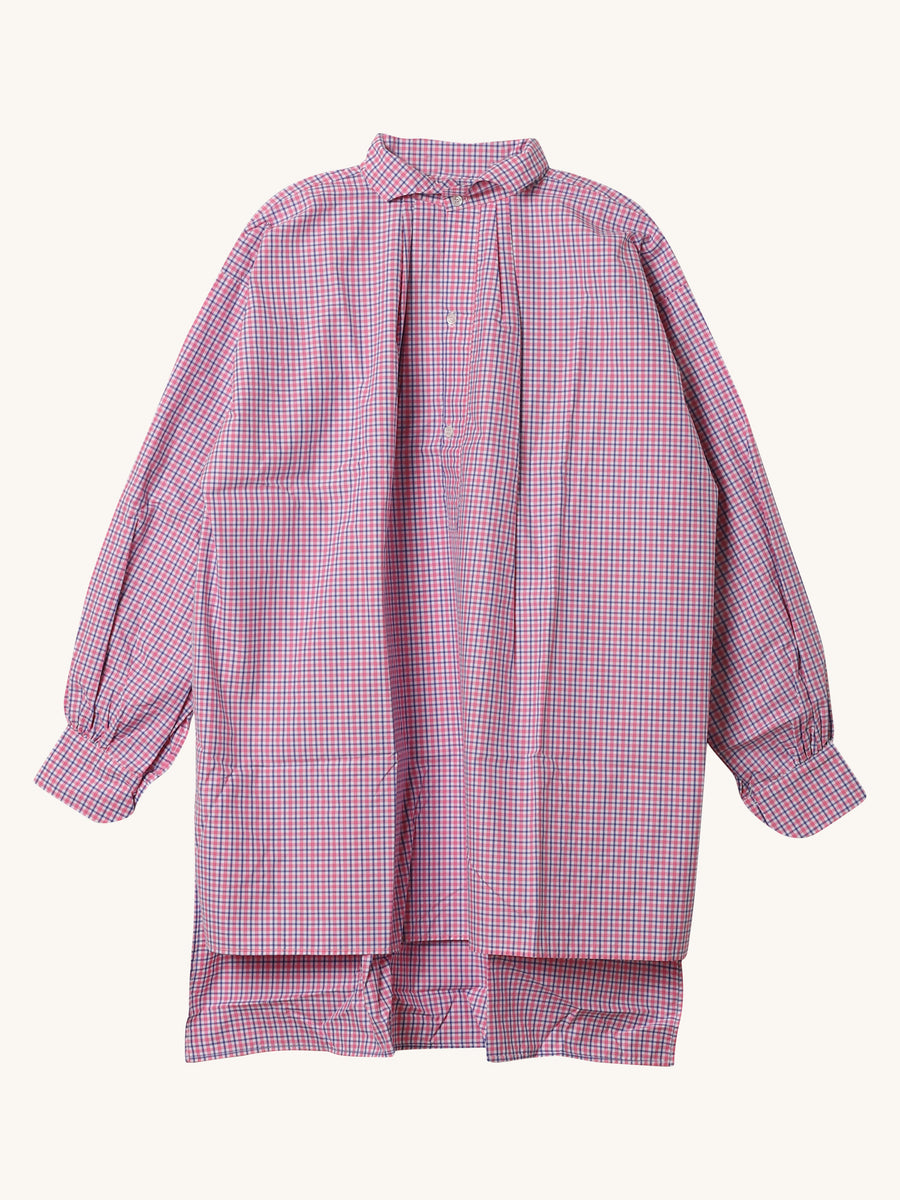 Oxford Blue & Pink Check Cross Tunic