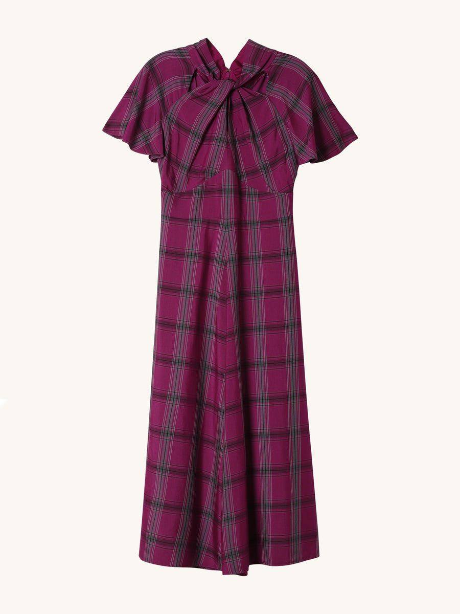 Isobel Violet Plaid Dress