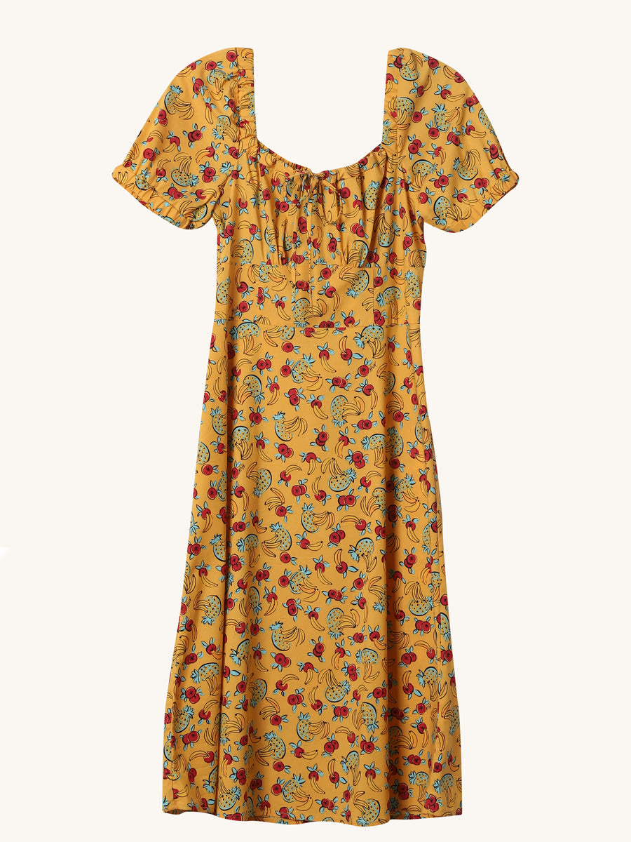 Tropical Holland Dress in Yellow