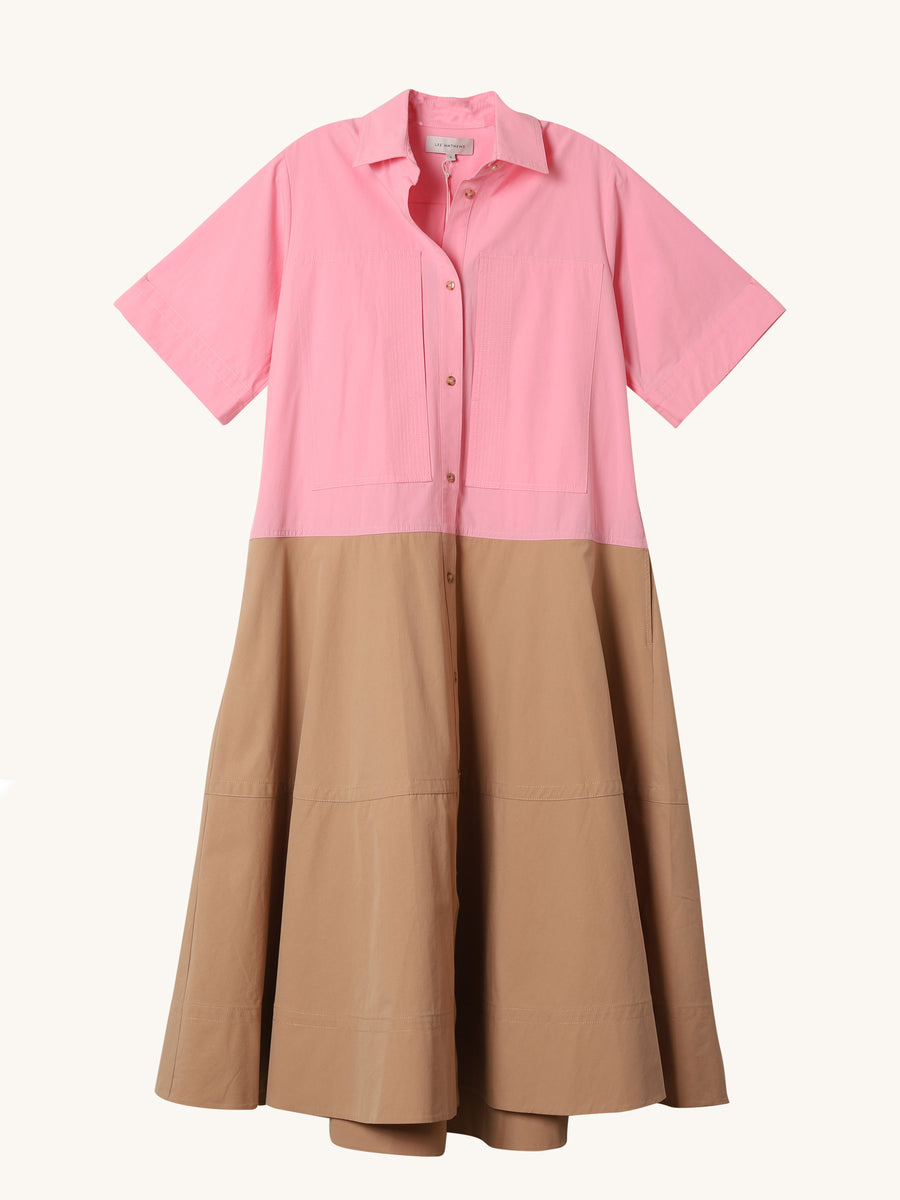 May Flared Shirt Dress
