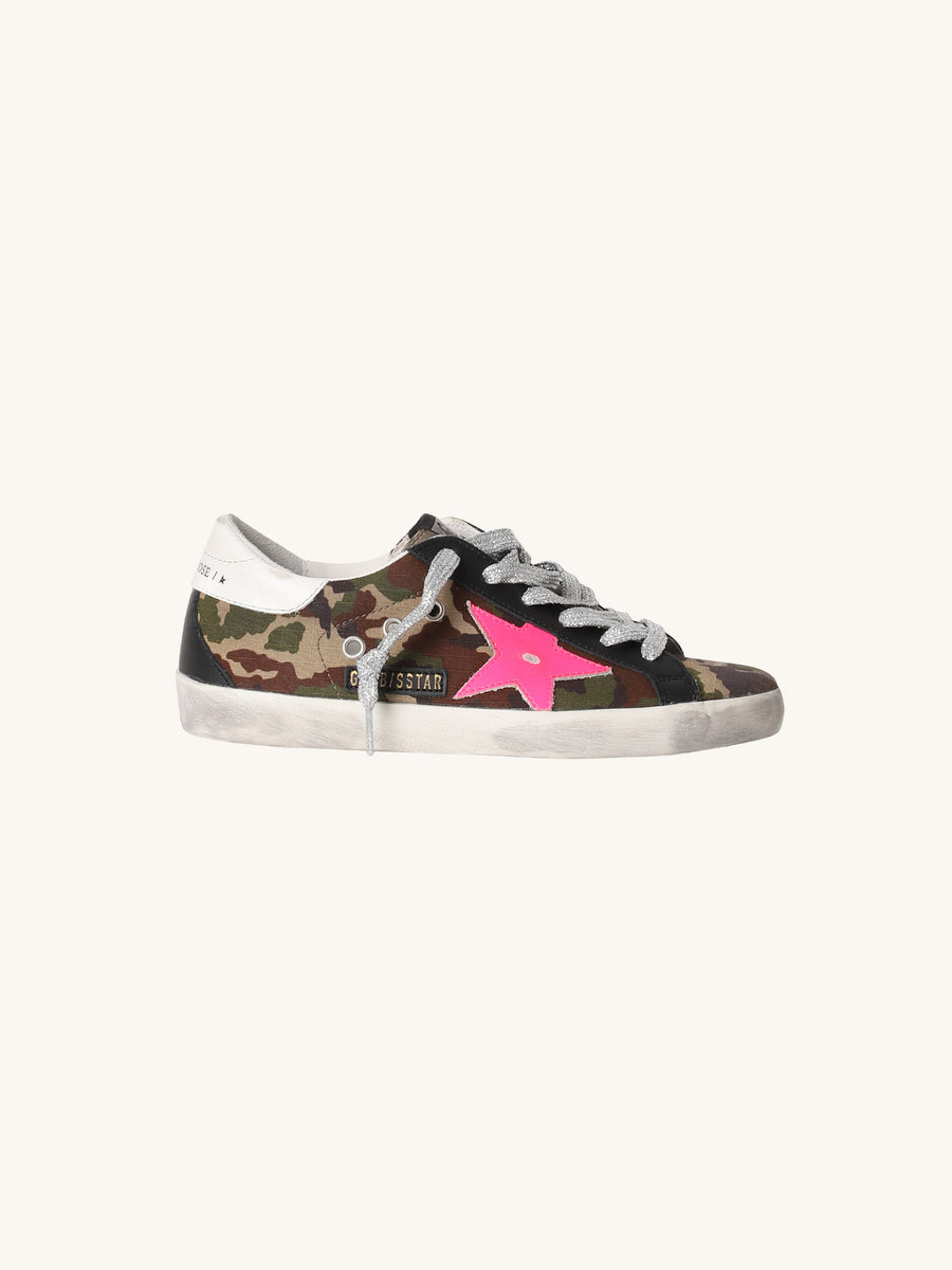 Superstar Sneaker in Camo & Pink