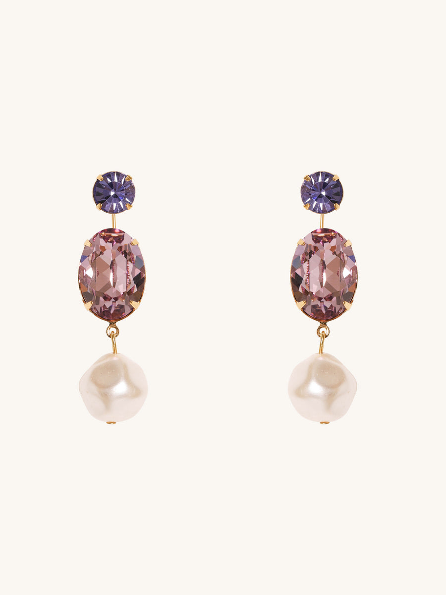 Meredith Earrings in Amethyst