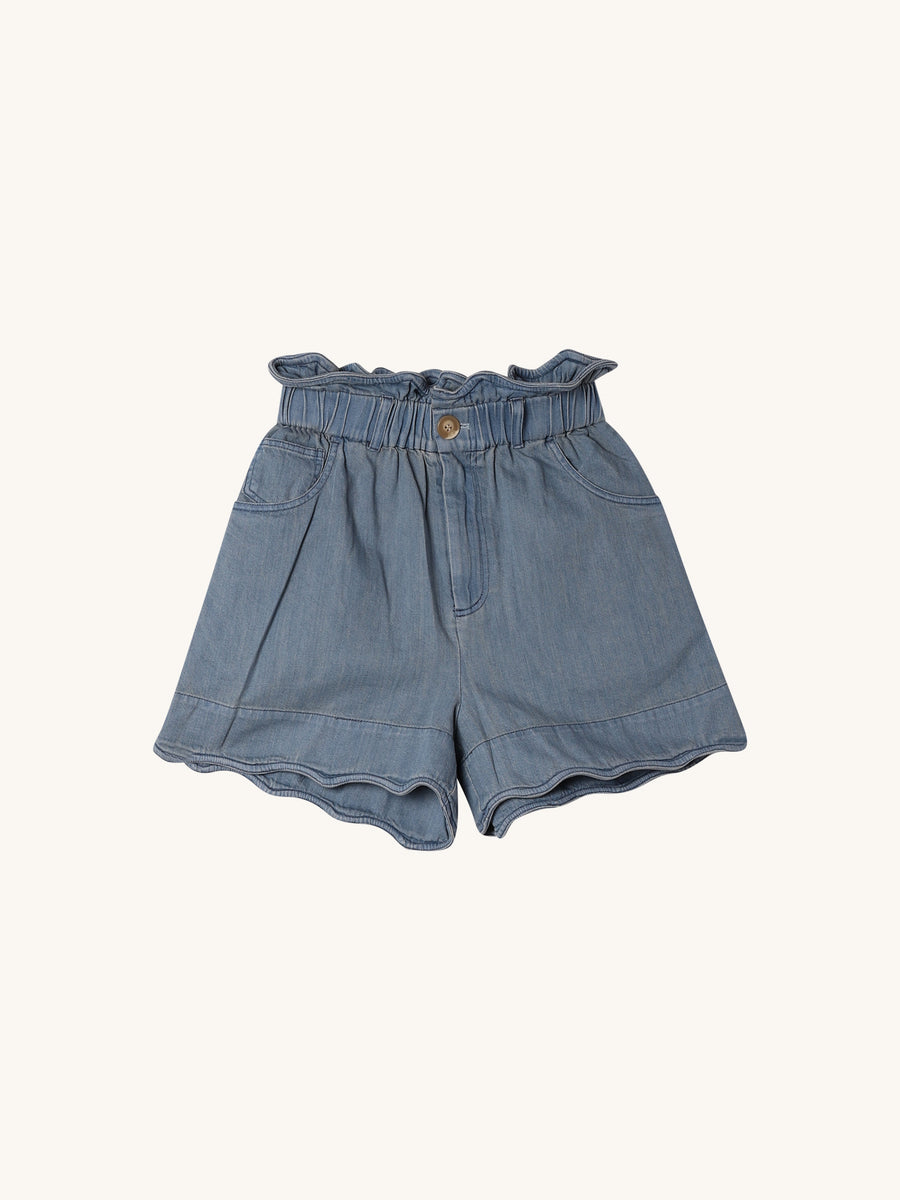 Dakota Scalloped Short in Blue