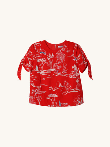 Toile Lia Top in Red