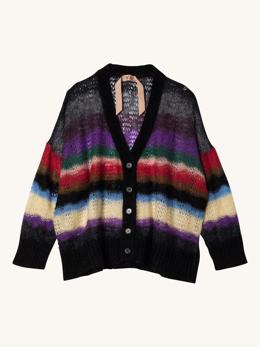Multicolor Knit Cardigan