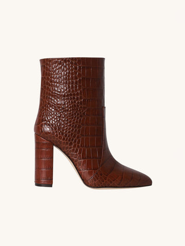 Pull On Croc Ankle Bootie in Brown