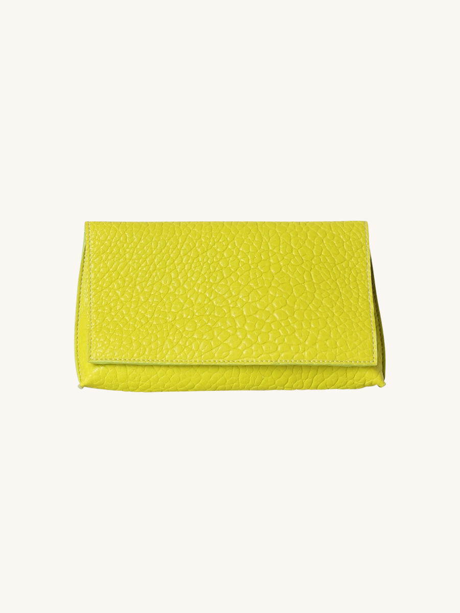 Foldover Clutch in Pear