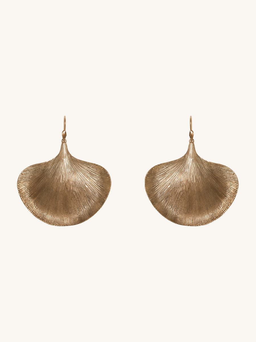 Large Ginko Leaf Earrings