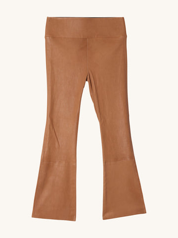 Crop Flare in Caramel