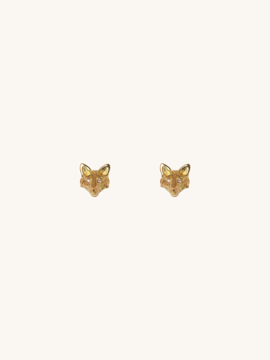 Diamond Eye Fox Earrings