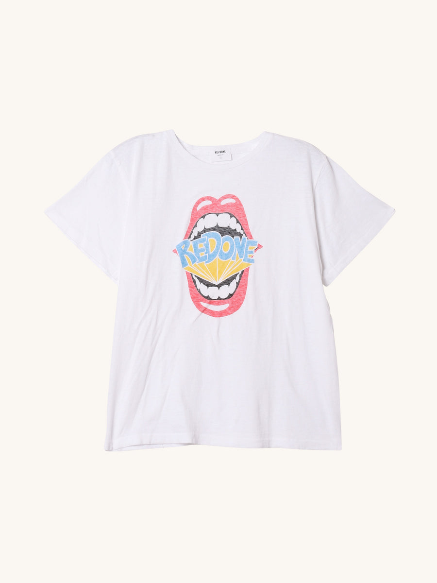 RE/DONE Mouth Classic Tee