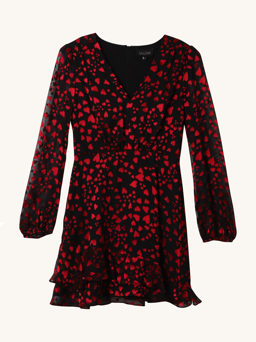 Alya Heart Print Dress