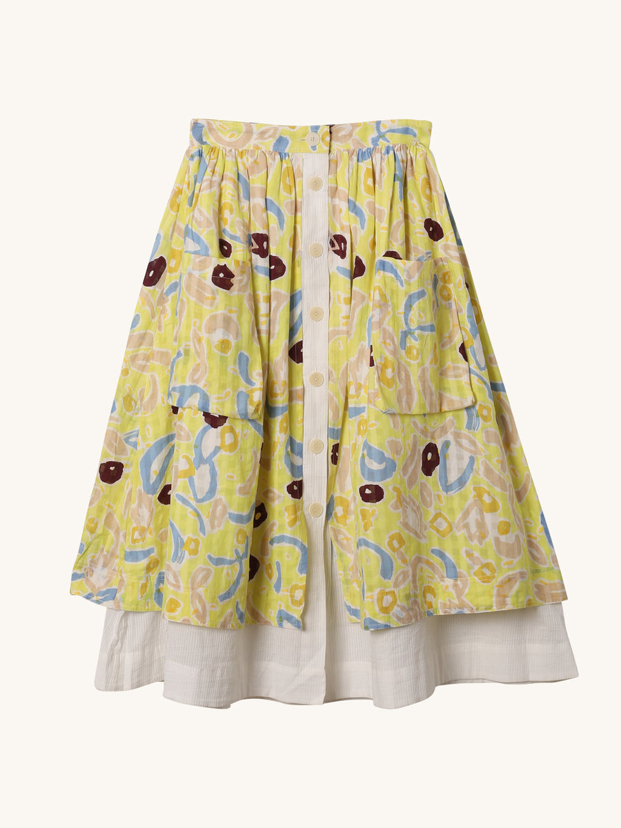 La Salade Skirt in Yellow