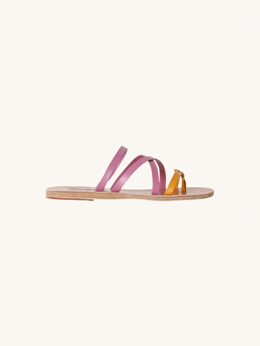 Hydra Sandals in Yellow & Violet