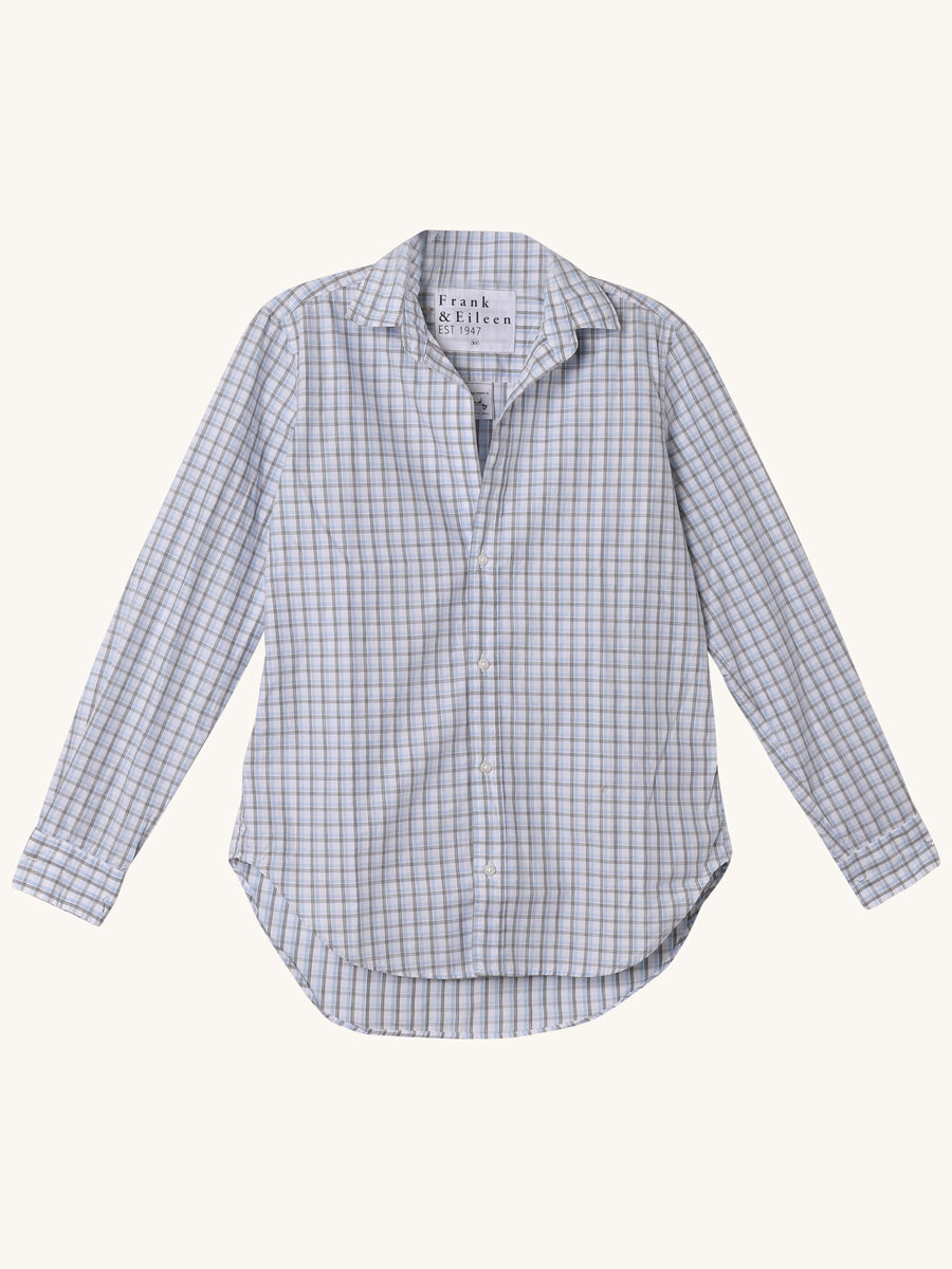 Frank Shirt in Grid Poplin