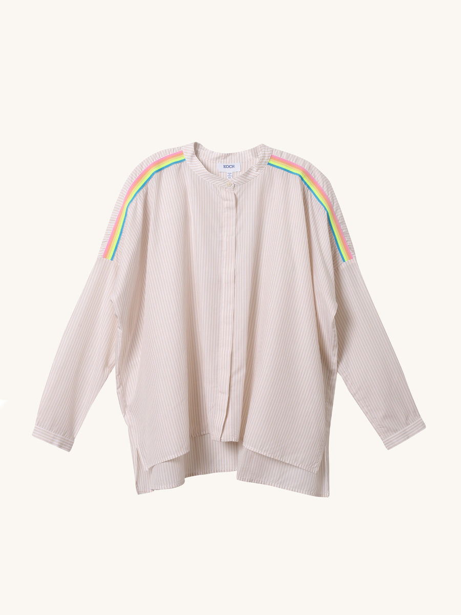 Stripe Leonardo Top in Sand