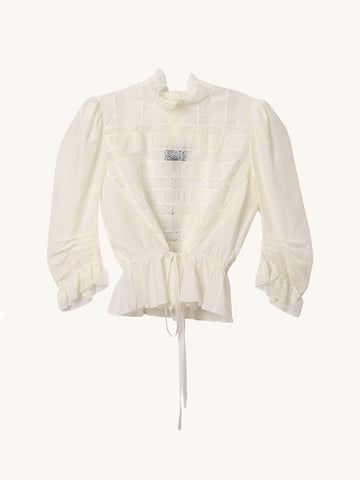 High Victorian Blouse in Ivory