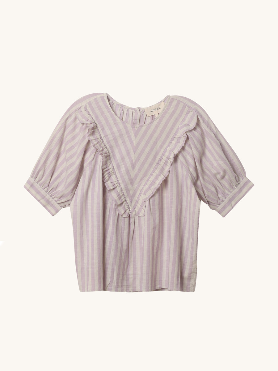 Lavender Stripe Courtyard Top