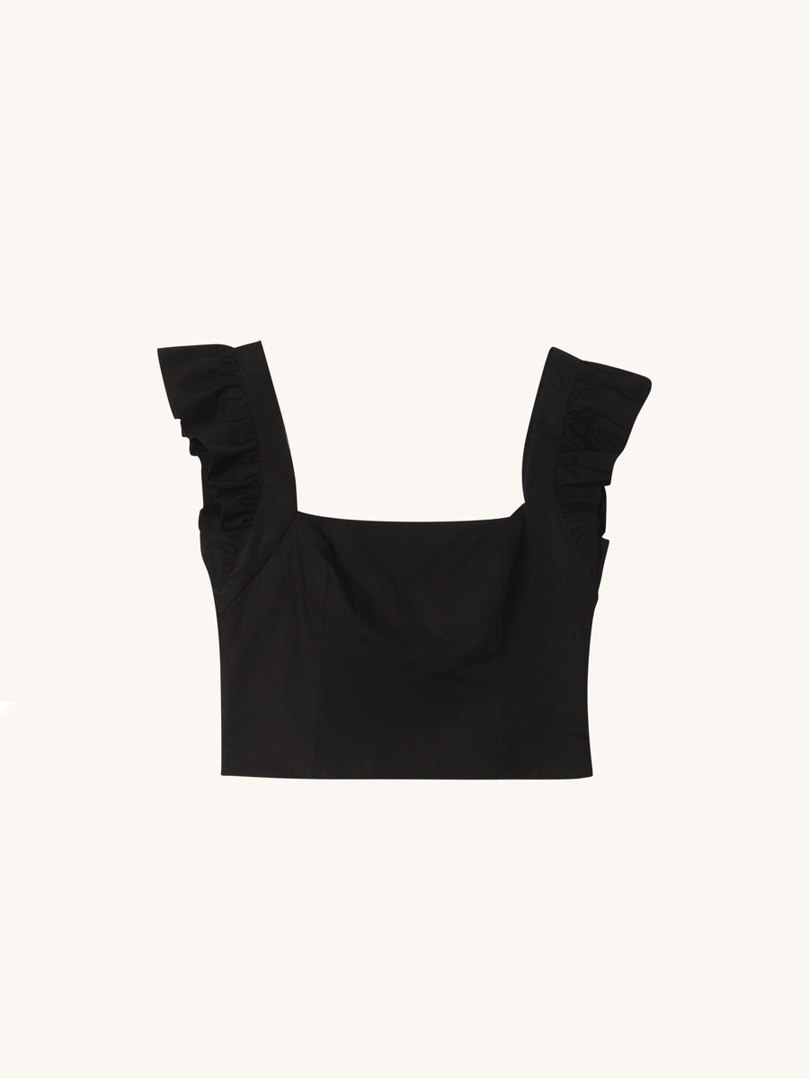Hyannis Top in Black