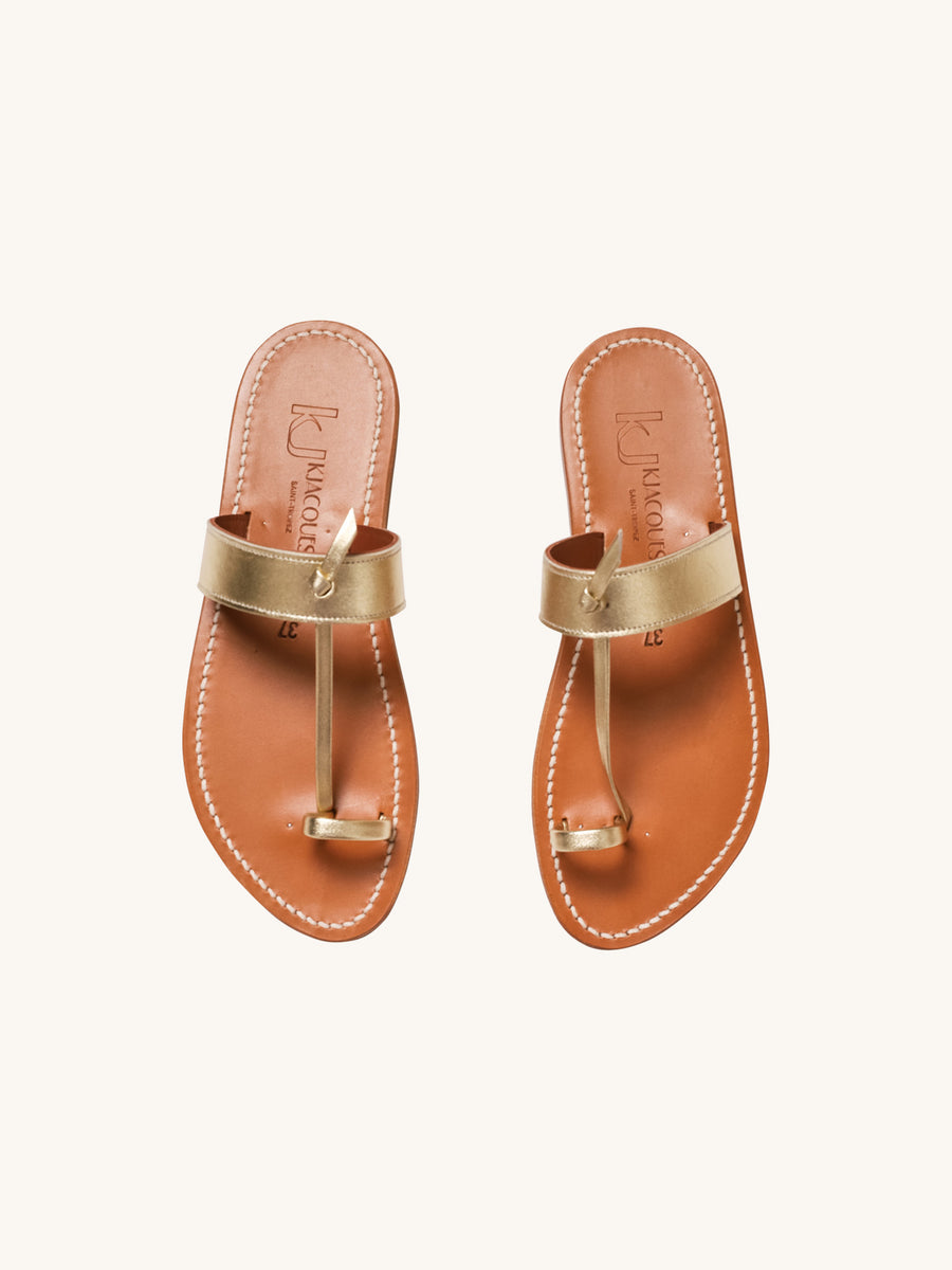 Ganges Sandal in Platine