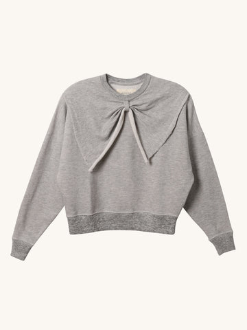 Bow Sweatshirt in Grey