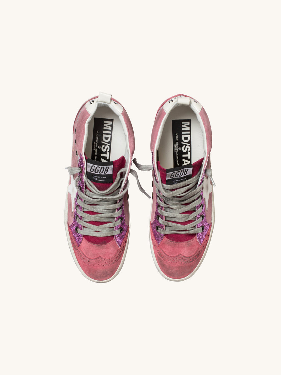 Midstar Sneaker in Pink with White Star