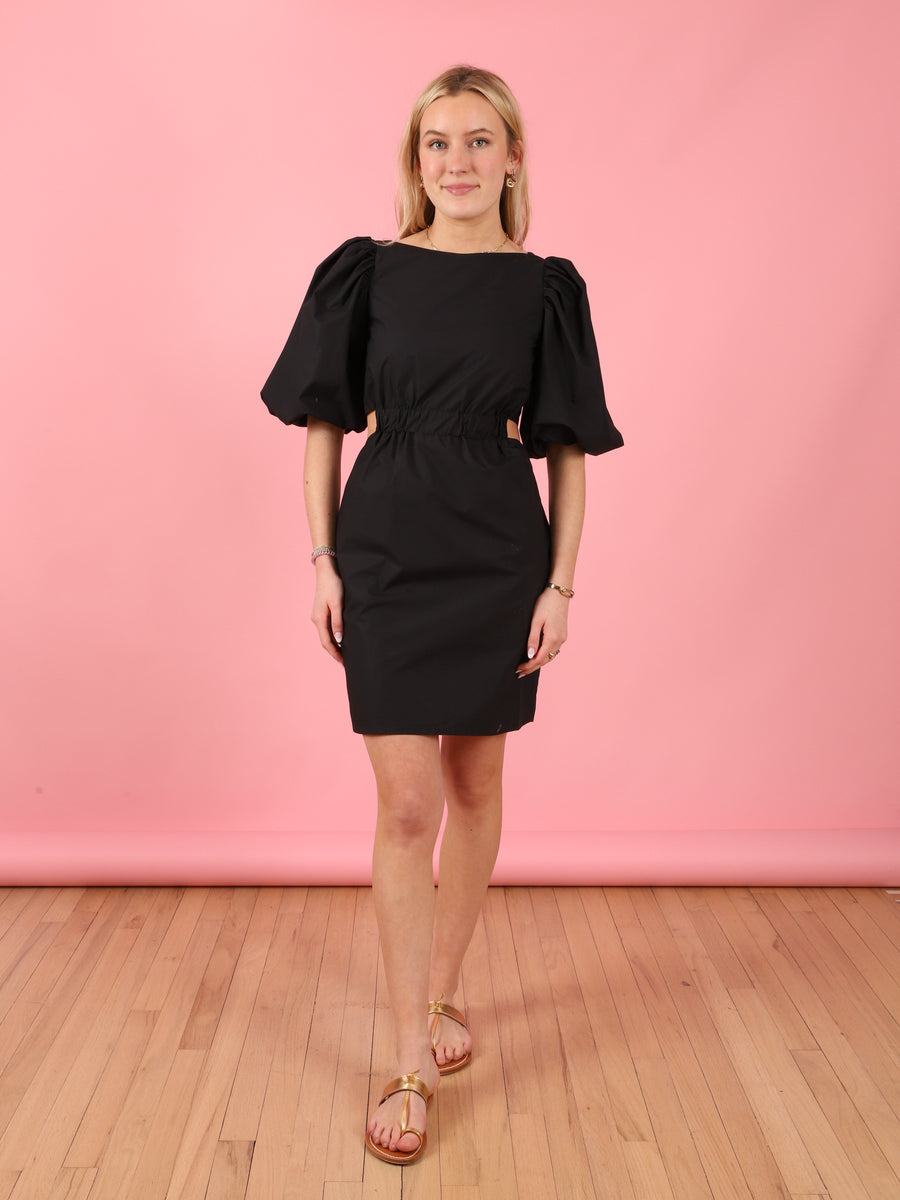 Short Sleeve Bonnie Dress in Black