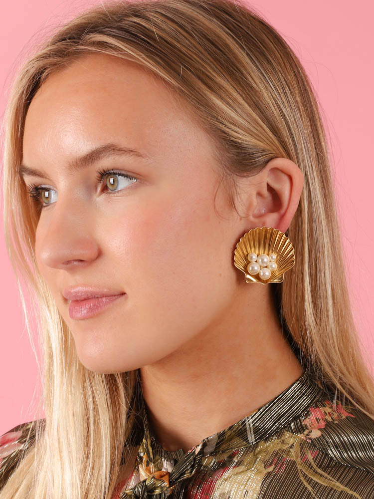 Sirena Earrings in Gold