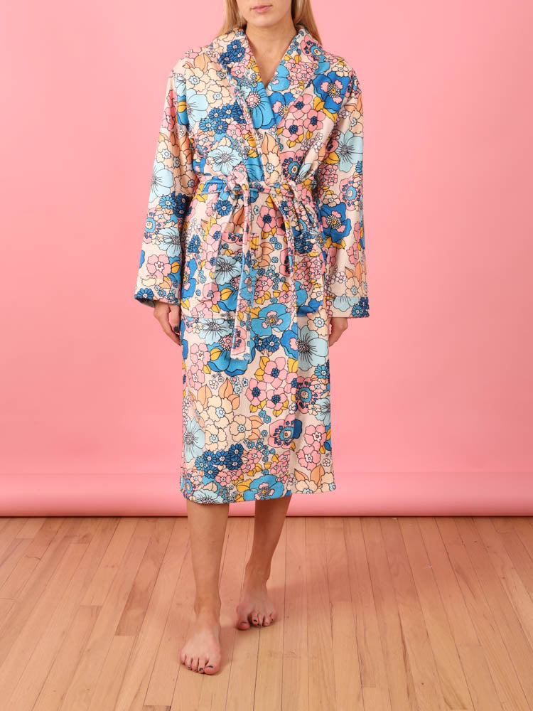 Floral Robe in Cream