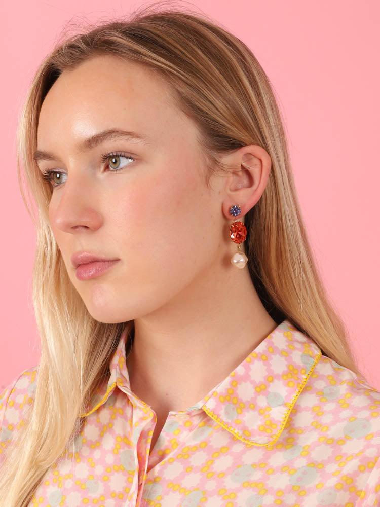Meredith Earrings in Paprika