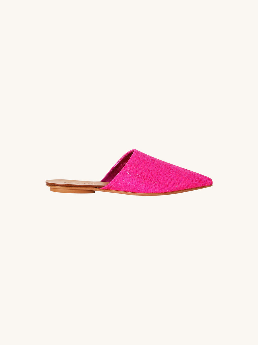 Lurex Slippers in Fuchsia