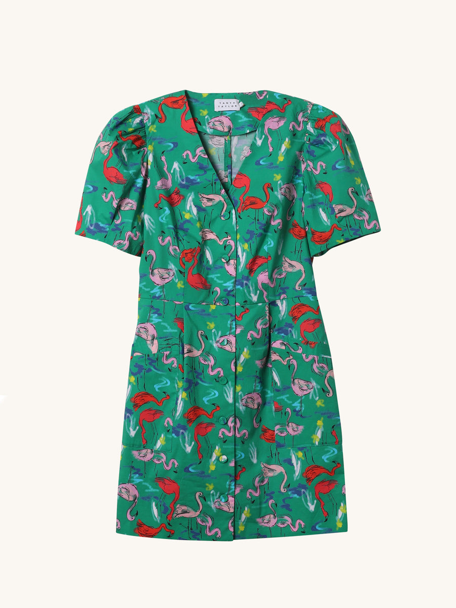 Augustine Flamingo Dress