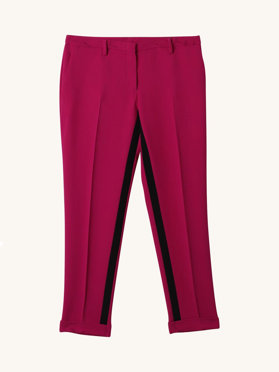 Cropped Pants in Fuchsia
